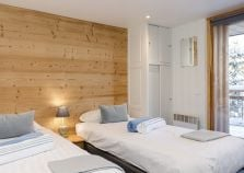 Chalet bedroom with balcony in La Plagne