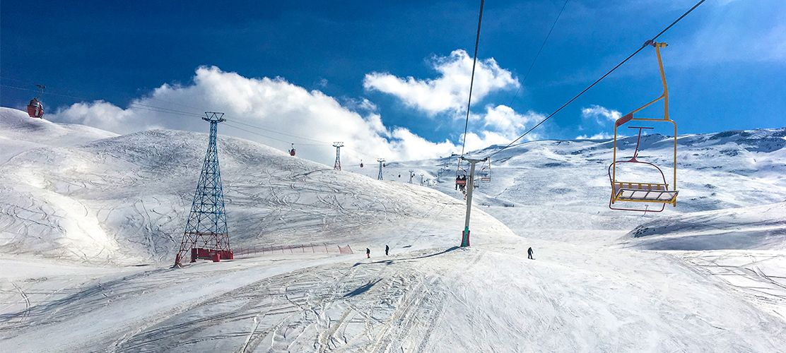 Empty slopes in Dizin Ski Resort