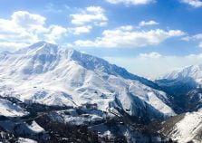 Snowy mountains in Iran