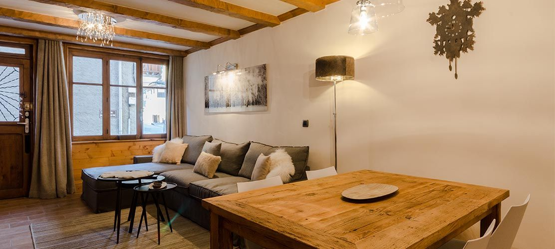 Cosy Lounge and Dining Area in Self Catered Chalet Los Robles