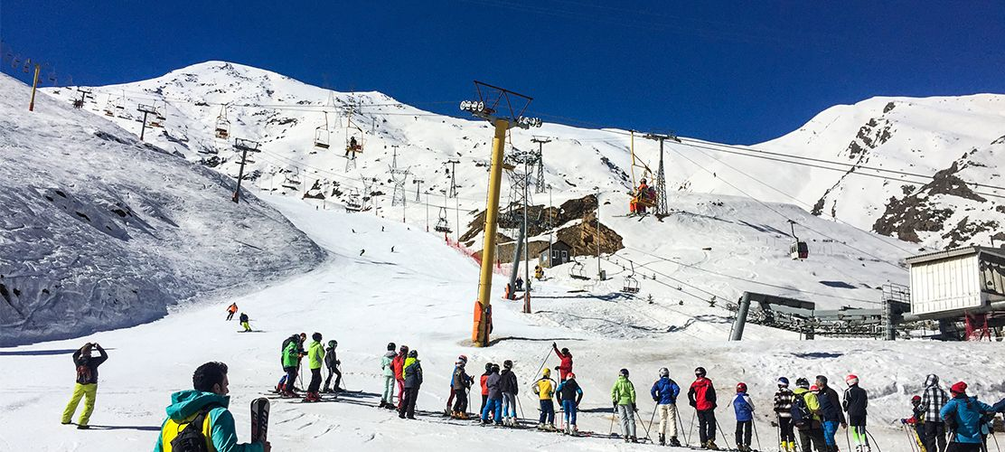 Skiing in Iran is in some ways quite like Europe