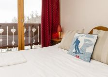 Double bed in self catered ski chalet