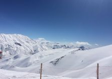 The pistes of Dizin in Iran