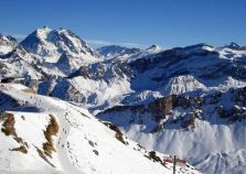 Pistes above Courchevel