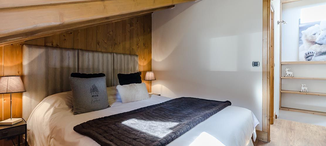 A double bedroom in the chalet