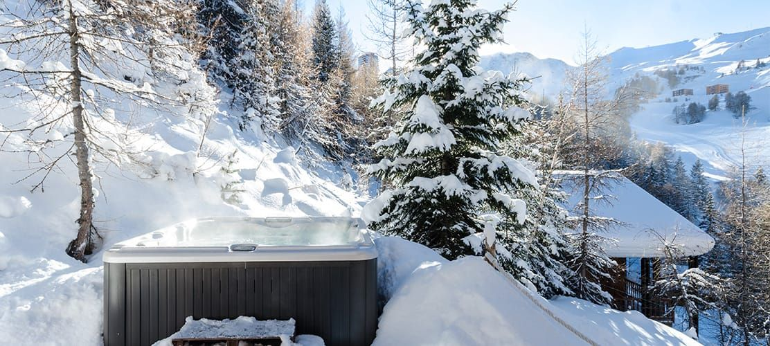 Catered chalet with hot tub in La Plagne