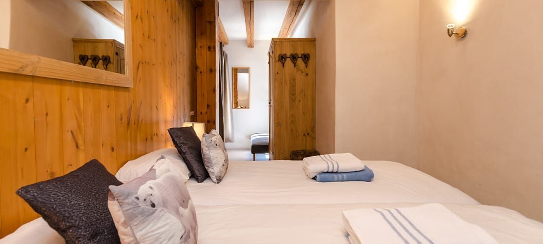 Double bedroom of catered chalet in La Plagne