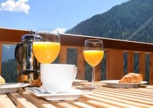 Enjoy stunning views from the breakfast table at Chalet Pic Blanc