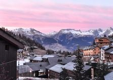Sunset over La Plagne 1800
