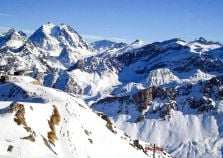 Courchevel mountains and slopes