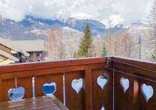 Looking out over La Plagne Montalbert from balcony