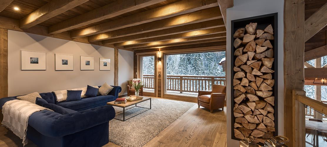 The living area of morzine chalet
