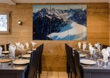 The chalet dining area