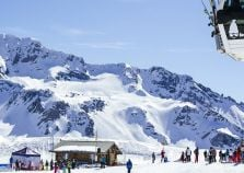 Ski lifts in operation in La Plagne